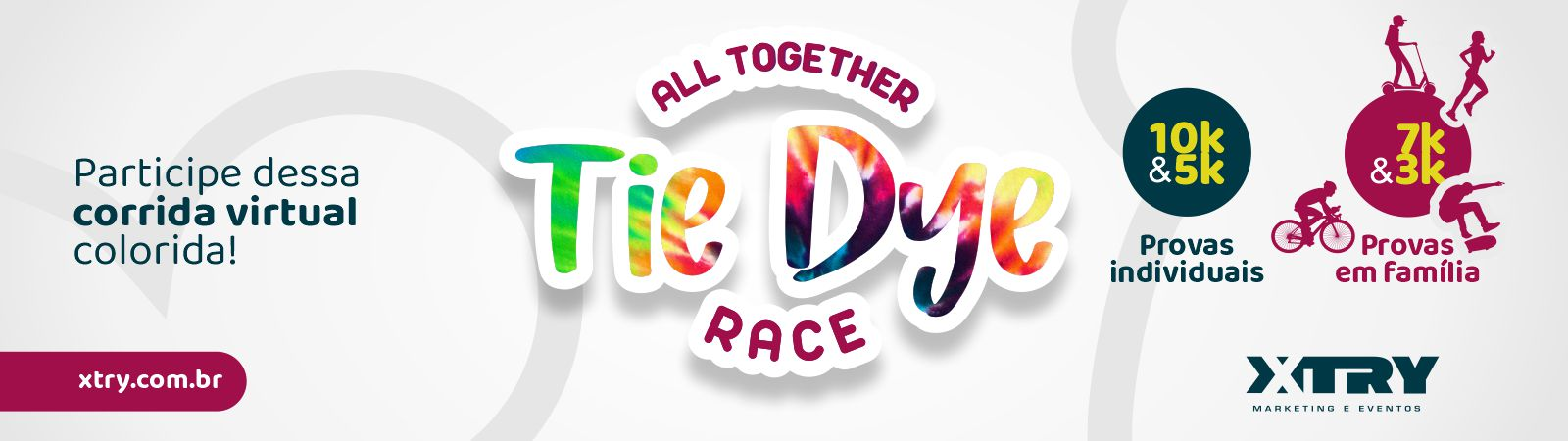 Tie Dye Race - Corrida Virtual Xtry